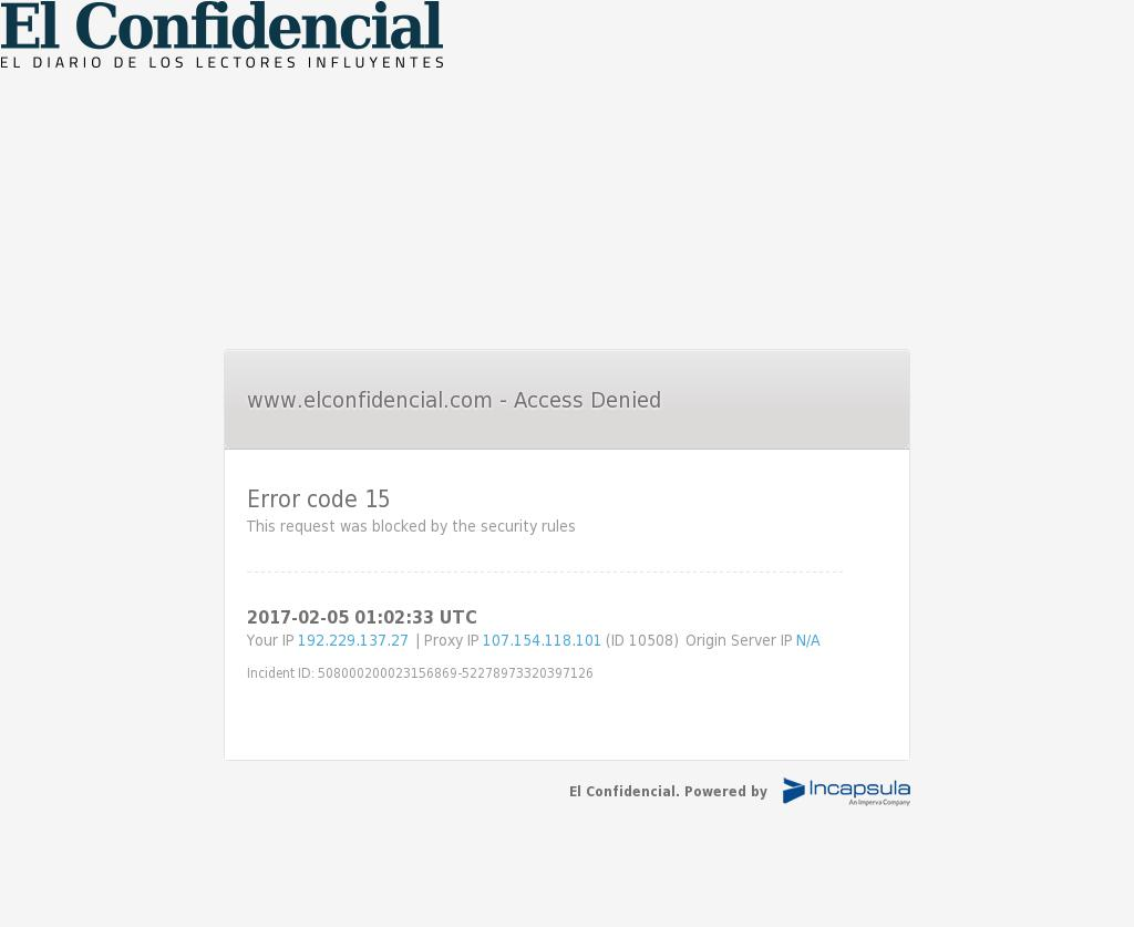 El Confidencial at Sunday Feb. 5, 2017, 1:02 a.m. UTC