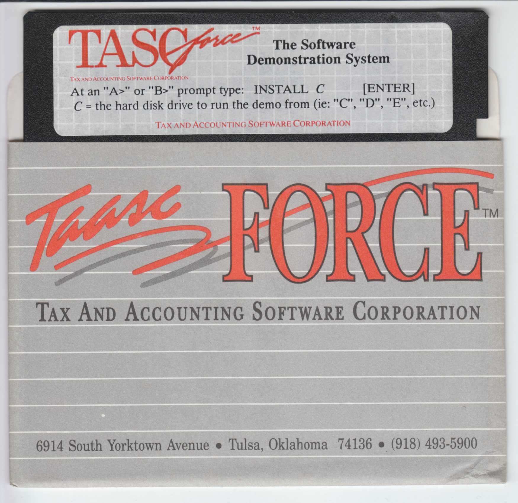TASCforce The Software Demonstation System, 1991 Edition