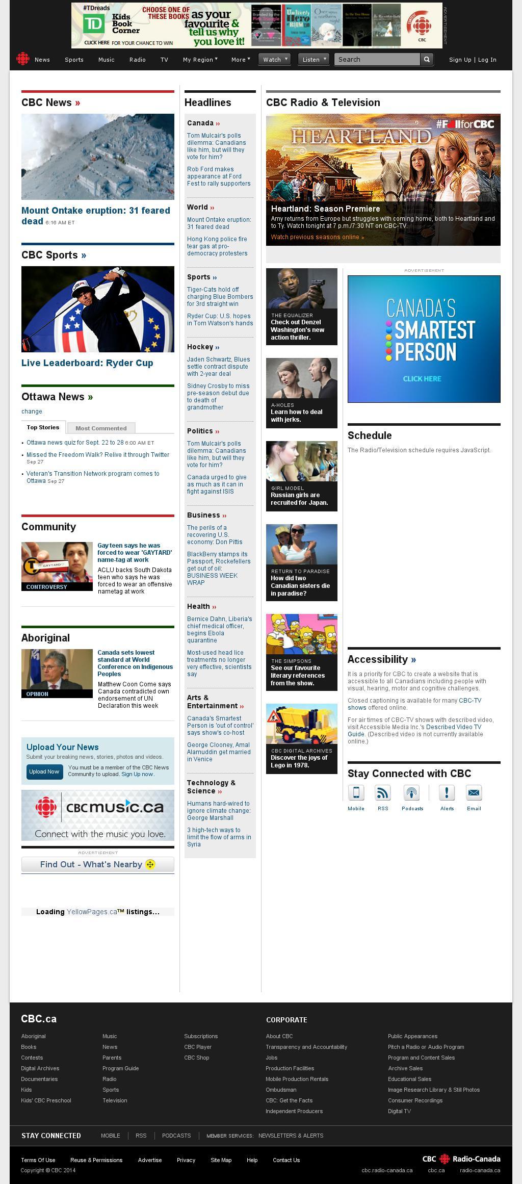 CBC at Sunday Sept. 28, 2014, 11:02 a.m. UTC