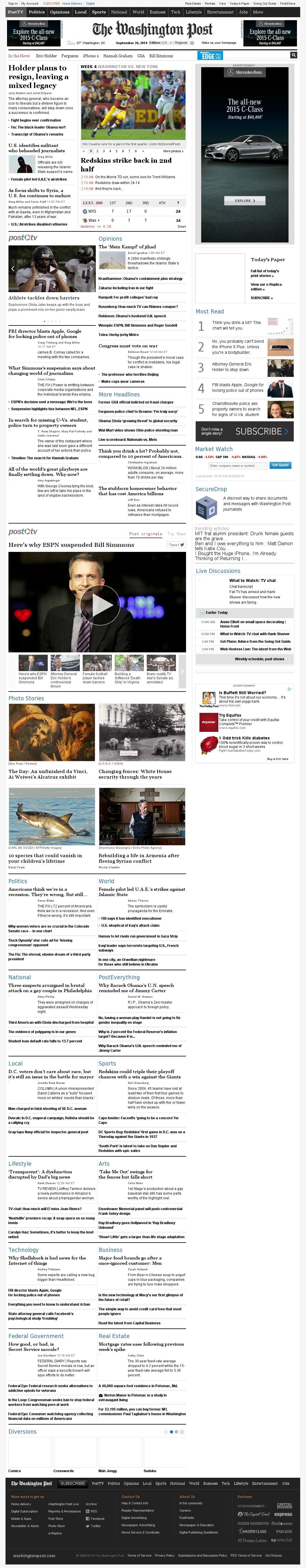 The Washington Post at Friday Sept. 26, 2014, 2:26 a.m. UTC