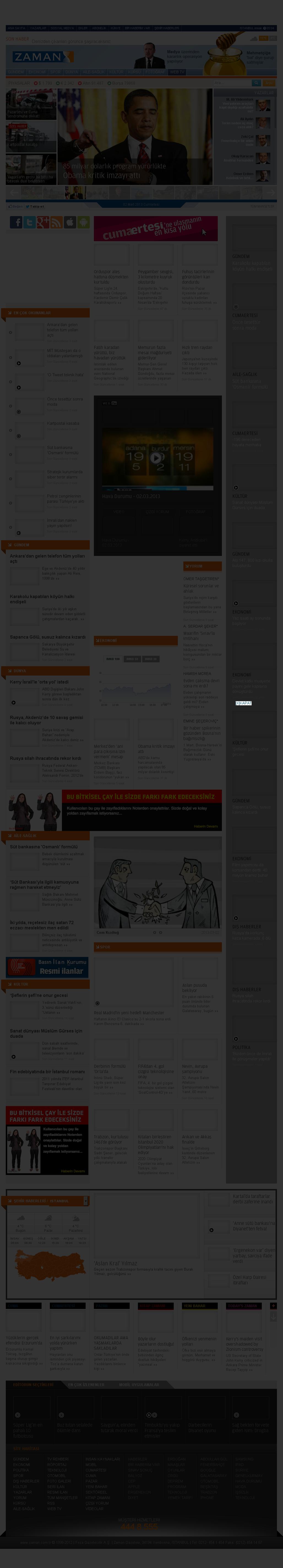 Zaman Online at Saturday March 2, 2013, 5:24 p.m. UTC