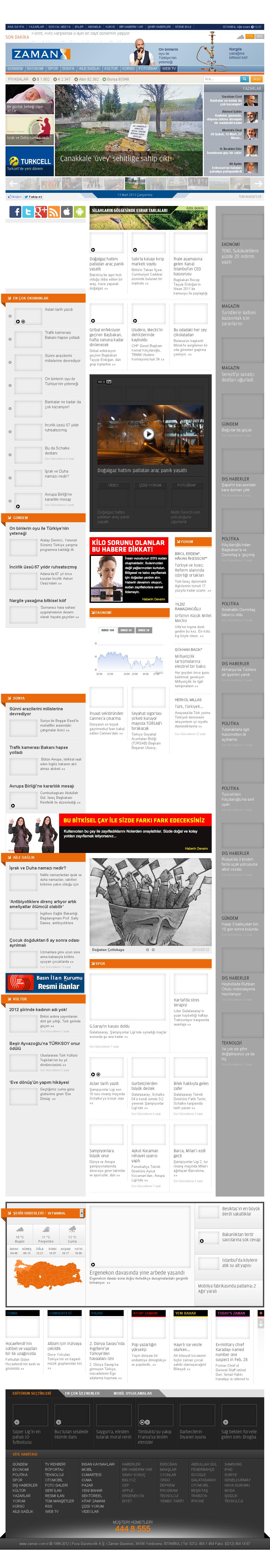 Zaman Online at Wednesday March 13, 2013, 7:25 a.m. UTC