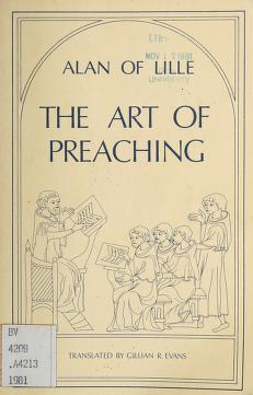 Cover of: The art of preaching | Alanus de Insulis