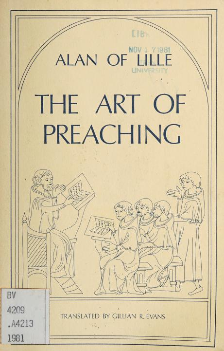 The art of preaching by Alanus de Insulis
