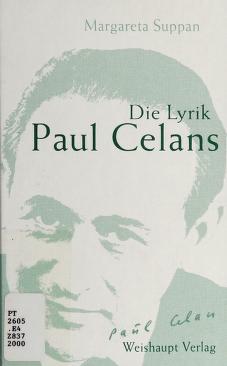Cover of: Die Lyrik Paul Celans | Margareta Suppan